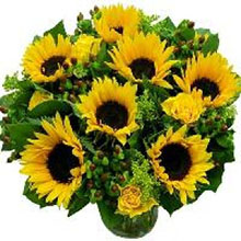 Bouquet with Sunflowers