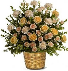 Basket mixed flowers