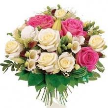 Bouquet rose chiare